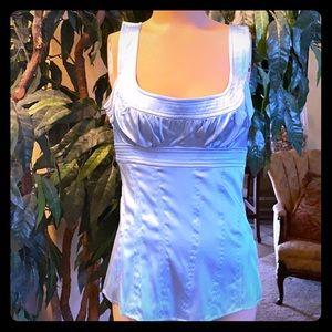 Baby blue silk Bebe dress top